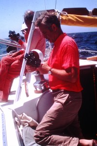 Sextants in use on Bermuda-Ireland sail 1976 by Messrs. Hoyt & Buell